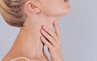 a woman who has an overactive thyroid gland