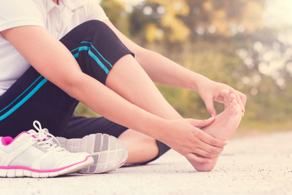 a runner with foot pain, what is plantar fasciitis?
