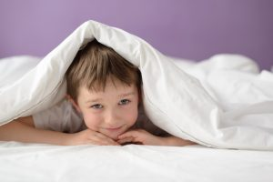 A child who has had problems with bedwetting